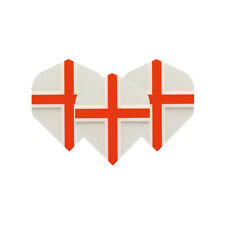 St George Cross Clear Dart Flights 4 sets per pack (12 flights in total)