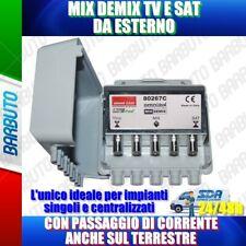MIX / DEMIX - TV / SAT DA ESTERNO, CON PASSAGGIO DI CORRENTE SUL TERRESTRE
