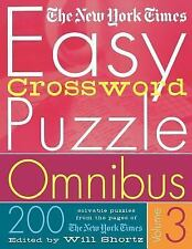 Easy Crossword Puzzle Vol. 3 : 200 Solvable Puzzles from the Pages of the New...