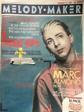 Melody Maker Feb 15th 1986 Marc Almond Simple Minds Bangles Sigue Chills Ozzy