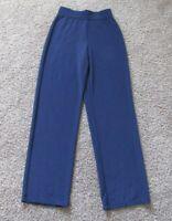 Women's Susan Graver Navy Blue Pull On Pants size XS Elastic Waist