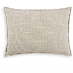 Hudson Park Collection Matelasse King Pillowsham  Seed Stitch Trellis NWT