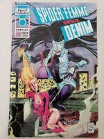SPIDER-FEMME VERSUS DENIM #1 SPECIAL EDITION 1993 SPOOF VENOM-SPIDER-MAN PARODY