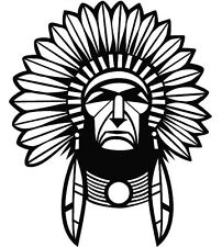 RED INDIAN CHIEF  CAR DECAL STICKER