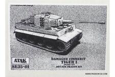 ATAK Model SE35-01 1/35 Zimmerit Tiger I Damaged