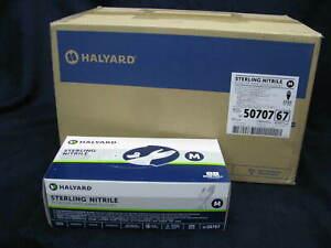 Case Halyard Nitrile Gloves 200X10 Sterling Medium PF Professional  2000ct 50707