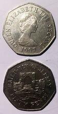 UK Jersey 50 pence 1997 rare edtion Reduced size 27mmco-ni coin km58.1