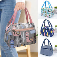 Cartoon Printed Lunch Bag Insulated Thermal Cool Bags Picnic Food Box Supply