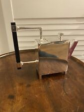 More details for silver plated square art deco style tea pot dresser coffee