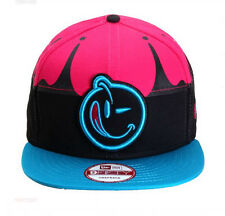 NEW Authentic YUMS New Era Black Tag Fallen Black/Pink/Blue Snapback 82BT