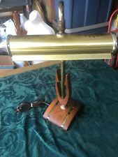 Rare Vintage Lamp Tilt Shade Architect Piano Light  Brass Wood