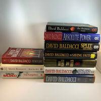 Lot of 10 David Baldacci Paperback Books John Puller King & Maxwell A Shaw Plus!