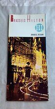 1968 Brussels Hilton Hotel Brochure Brussels, Belgium  N 136