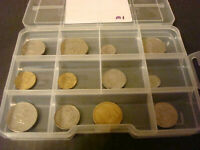 MEXICO COIN LOT 12 DIFFERENT COINS W/ PLASTIC CASE  MAKES A GREAT GIFT LOT M1