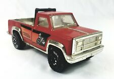 1970's Red Tonka Pickup Truck With Roll Bars chrome plastic accents Vintage