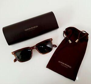 Oliver Peoples tortoise shell designer polarized sunglasses