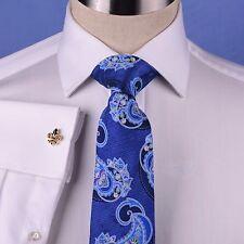 Solid White Herringbone Formal Dress Shirt Men's Professional Business Work Top