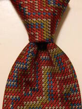 MISSONI Cravatte Men s 100% Silk Necktie ITALY Designer ZIGZAG Red Blue EUC 9a3440776
