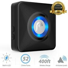Fosmon Add-On LED Wireless Door Chime Receiver x1 [For Wireless Doorbell]