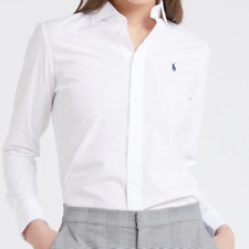 Ralph Lauren Womens Shirt  White Blue Embroidered Pony All sizes Genuine