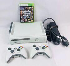Microsoft 60GB Xbox 360 Video Game Console Bundle 2 Controllers  W/ GTA V