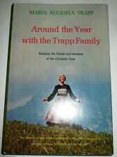 AROUND THE YEAR WITH THE TRAPP FAMILY MARIA AUGUSTA TRAPP SIGNED DJ.