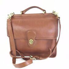 Vintage Coach 9927 Willis British Tan Satchel Crossbody Bag Purse