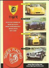 TIGER KIT CARS BROCHURE + ADDITIONAL INFORMATION ON KITS,DONOR CARS, PRICES 2003