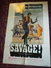 savage don julian  blackexpolitaion  film poster large usa orig rare