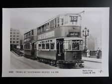 London Tram TRAMS AT SOUTHWARK BRIDGE Pamlin Print Postcard M542
