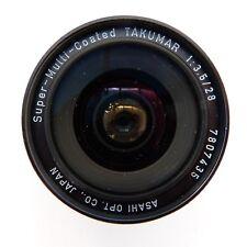 Asahi Pentax f3.5 28mm M42 thread SMC Takumar Wide-Angle Lens fine condition