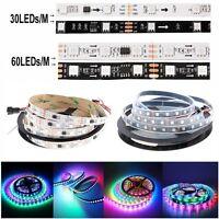 5m/16ft WS2811 5050 RGB 150/300LEDs LED Strip Lights+14Keys RF Remote+12V Power