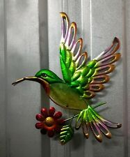 Rite Aid Home & Garden Decorative Glass Wall Art Floral Multicolored Bird