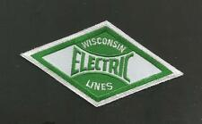 WISCONSIN ELECTRIC LINES     RAILROAD PATCH 4 1/8   ""