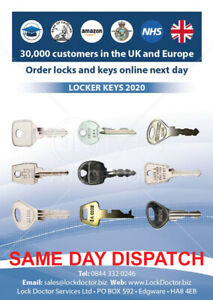 Locker Keys cut by computer (over 100,000 to choose from) ** FREE 48HR TRACKED**