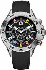 Men's Black Nautica NST Chronograph Flag Watch N16553G