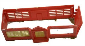 HO Scale Red Dilapidated Building Broken Wall Missing Window Part Piece Walls