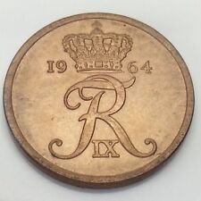 1964 Denmark Danmark 5 Five Ore Circulated Danish Coin E736
