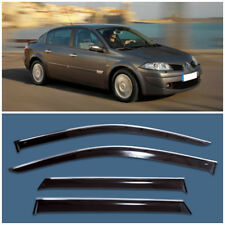 Chrome Trim Window Visors Guard Vent Deflectors For Renault Megane Sd 2002-2008