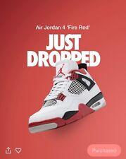 Jordan 4 Retro Fire Red 2020 Size 10 ORDER CONFIRMED