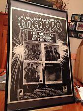 """3 BIG 11X17 FRAMED MENUDO """"FUEGO, POR AMOR & QUIERO SER"""" LP ALBUM CD PROMO ADS"""