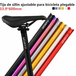 Tija De Sillín De Bicicleta Plegable CNC 33.9 Ajustable Ultraligero Colorido