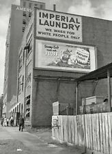 1951 Whites Only Laundry PHOTO,Segregation Black Civil Rights Birmingham,Alabama