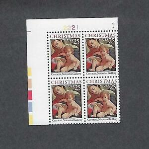 Scott # 2427 US Christmas Madonna &Child  Plate Block of 4, Mint Never Hinged,OG