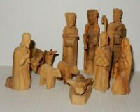 Vintage Wood Carved Nativity Set