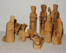 Vintage Wood Carved Nativity Set