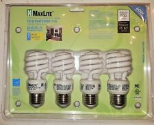 MaxLite Home Comfort CFL 13 Watt 60W Spiral Warm White 2700K Light Bulb - 4 pack