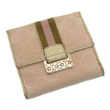 Auth GUCCI W Hock Wallet GG Pattern / Women''s used C665