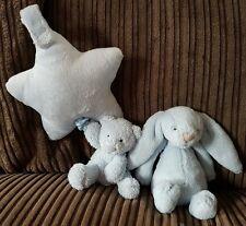 Jellycat, Blue Bashful Rattle Bunny, Bear Lullaby, VGUC, Loads Listed