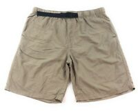 The North Face Shorts Mens Large Khaki Beige Hiking Outdoors Packable 100% Nylon